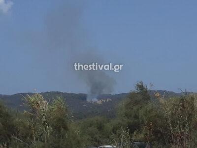 Φωτιά στην Τορώνη Χαλκιδικής