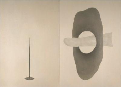 """Give pain, get pleasure"", oil on canvas, 100 x 140 cm"