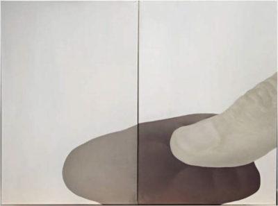"""Growing pale"", oil on canvas, 70 x 100 cm"