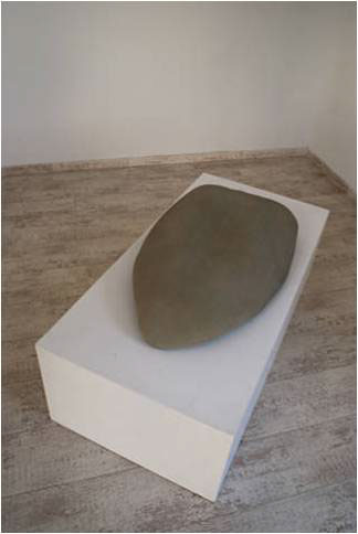 """Silence"", plaster, 85 x 55 cm"